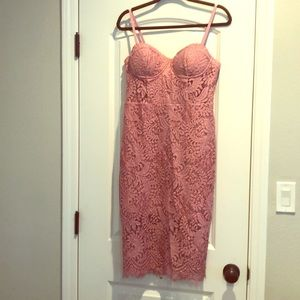 Like new lacy pink dress